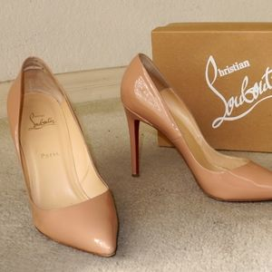 Christian Louboutin Pigalle 100 size 41 Nude Pat